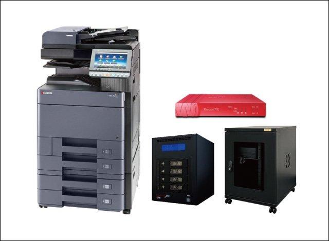 ●カラーコピー機(24枚機)<br /> ●UTM<br /> ●ファイルサーバ<br /> ●サーバーラック