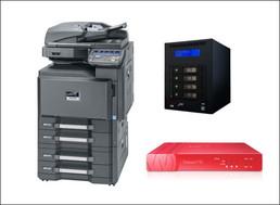 ●カラーコピー機(25枚機)<br /> ●ファイルサーバー<br /> ●UTM