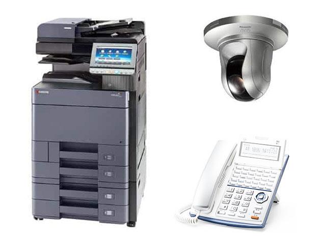 ●カラーコピー機(32枚機)<br /> ●ビジネスフォン<br /> ●侵入警戒カメラ